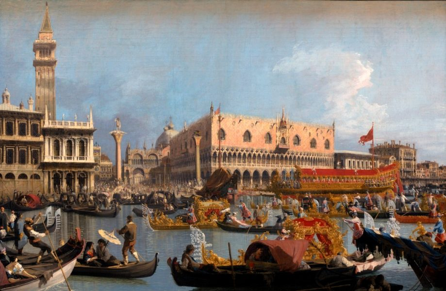 Canaletto: The Bucintoro returning to the Molo on Ascension Day after the Ceremony of Wedding the Adriatic Monteverdi and Canaletto are both closely associated with Venice: we sing the 'Lauda Jerusalem' from the 1610 Vespers.